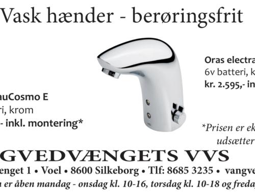 God håndhygiejne med elektronisk vandhane
