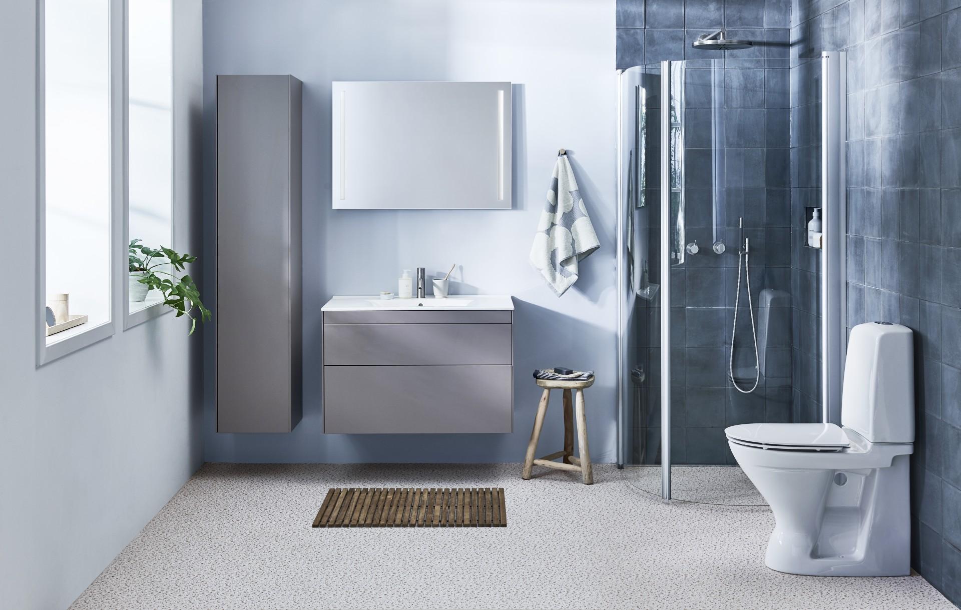 Vangvedvængets VVS Geberit Ifö komplet badeværelse