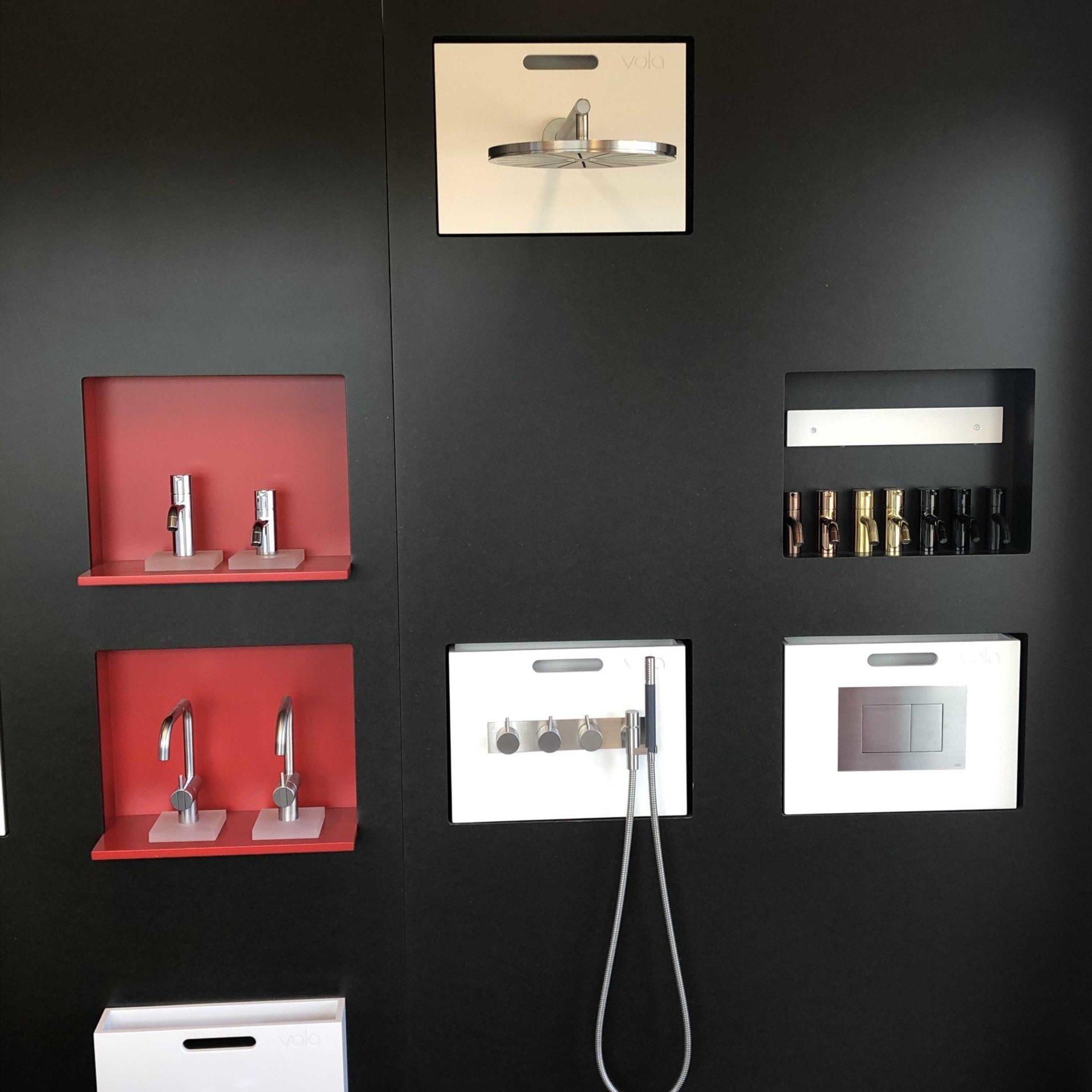 Vangvedvængets VVS armatur udstilling showroom badeværelse