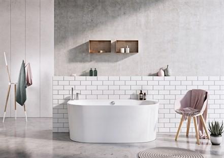 Vangvedvængets VVS Strømberg Bad Siena badekar